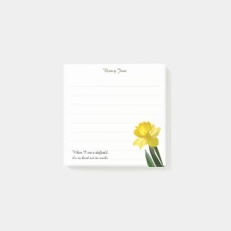 """Quote:  """"When I see a daffodil ...""""  Flower Pics Post-it Notes"""