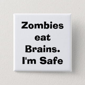 quote, zombie 2 inch square button