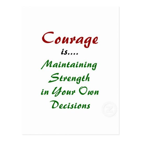 Quotes About Courage on Products Postcard
