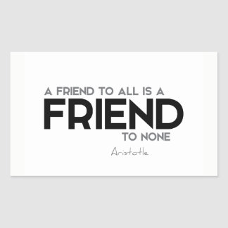 QUOTES: Aristotle: Friend to all Sticker