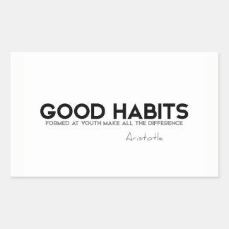 QUOTES: Aristotle: Good habits Sticker