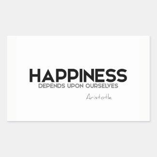 QUOTES: Aristotle: Happiness Sticker