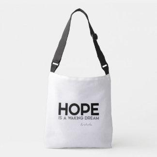 QUOTES: Aristotle: Hope: waking dream Crossbody Bag