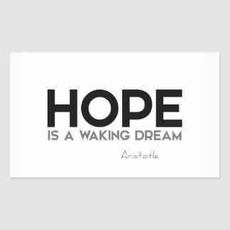 QUOTES: Aristotle: Hope: waking dream Sticker