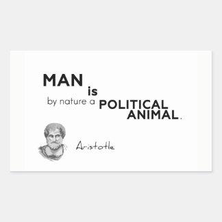 QUOTES: Aristotle: Man: political animal Sticker