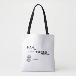QUOTES: Aristotle: Man: political animal Tote Bag