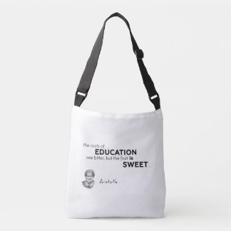 QUOTES: Aristotle: Roots of education Crossbody Bag