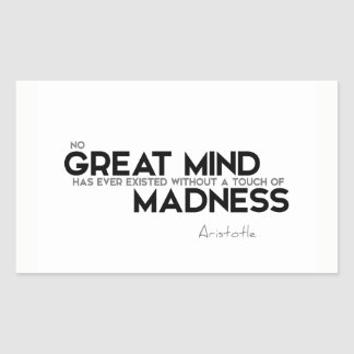 QUOTES: Aristotle: Touch of madness Sticker