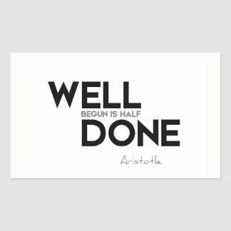QUOTES: Aristotle: Well done Sticker