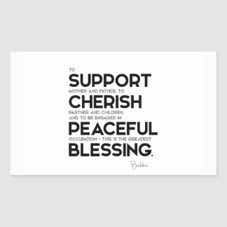 QUOTES: Buddha: Greatest blessing Sticker