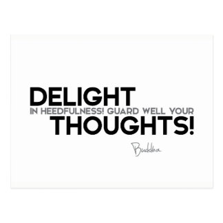 QUOTES: Buddha: Guard your thought Postcard