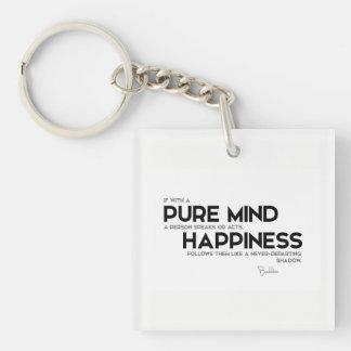 QUOTES: Buddha: Pure mind Keychain