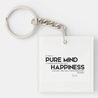 QUOTES: Buddha: Pure mind Single-Sided Square Acrylic Keychain