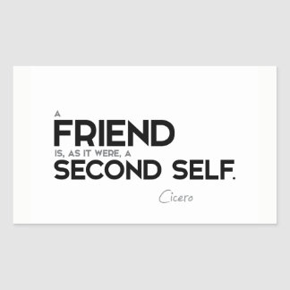 QUOTES: Cicero: A friend: second self Sticker