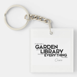 QUOTES: Cicero: A garden and a library Keychain