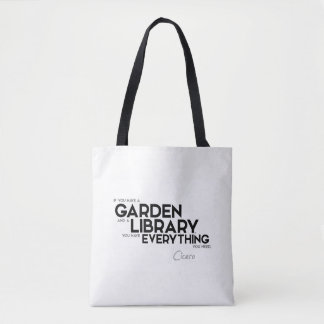 QUOTES: Cicero: A garden and a library Tote Bag