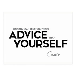 QUOTES: Cicero: Advice yourself Postcard