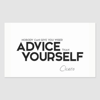 QUOTES: Cicero: Advice yourself Sticker