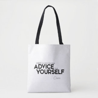 QUOTES: Cicero: Advice yourself Tote Bag