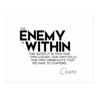 QUOTES: Cicero: Enemy within the gates Postcard