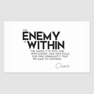 QUOTES: Cicero: Enemy within the gates Sticker
