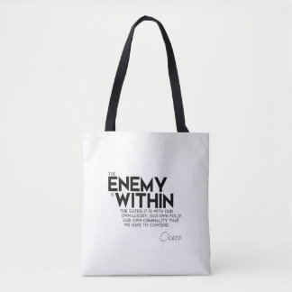 QUOTES: Cicero: Enemy within the gates Tote Bag