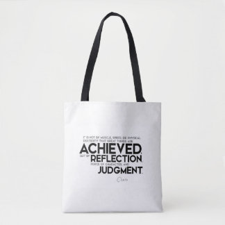 QUOTES: Cicero: Force of character Tote Bag