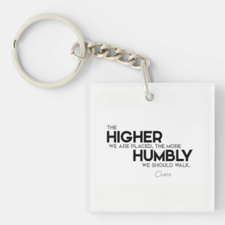 QUOTES: Cicero: Humbly walk Keychain