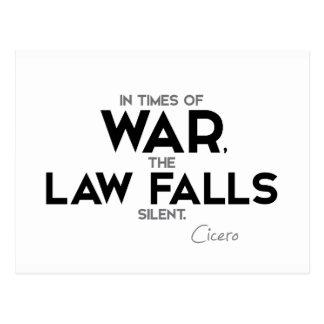 QUOTES: Cicero: Law falls silent Postcard