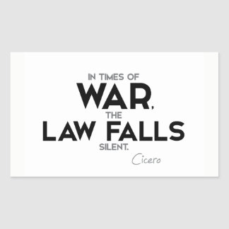 QUOTES: Cicero: Law falls silent Sticker