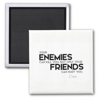 QUOTES: Cicero: Only friends can hurt you Magnet