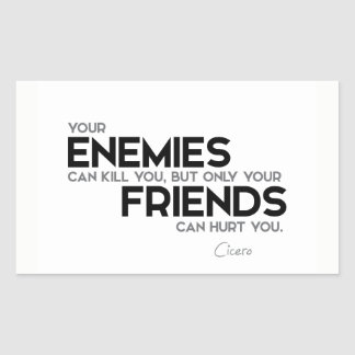 QUOTES: Cicero: Only friends can hurt you Sticker