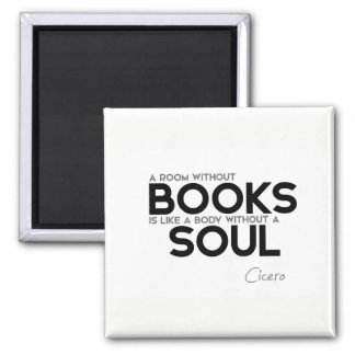 QUOTES: Cicero: Room without books Magnet
