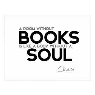 QUOTES: Cicero: Room without books Postcard