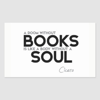 QUOTES: Cicero: Room without books Sticker