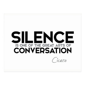 QUOTES: Cicero: Silence, conversation Postcard