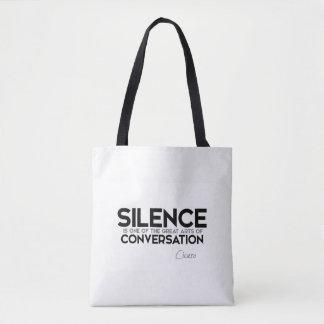 QUOTES: Cicero: Silence, conversation Tote Bag