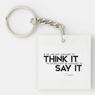 QUOTES: Cicero: Think it, say it Keychain