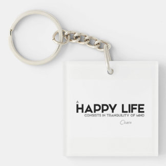 QUOTES: Cicero: Tranquility of mind Single-Sided Square Acrylic Keychain