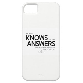 QUOTES: Confucius: All the answers iPhone 5 Cover