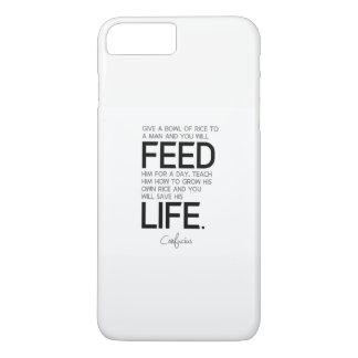 QUOTES: Confucius: Bowl of rice, grow rice iPhone 8 Plus/7 Plus Case