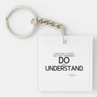 QUOTES: Confucius: Do and understand Keychain
