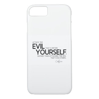 QUOTES: Confucius: Evil within yourself iPhone 8/7 Case