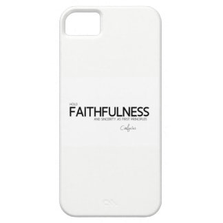QUOTES: Confucius: Faithfulness and sincerity iPhone 5 Cover