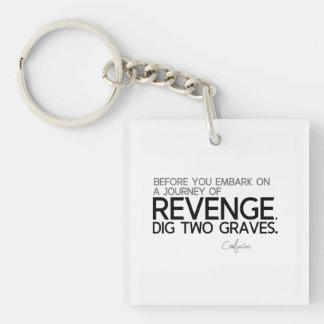 QUOTES: Confucius: Journey of revenge Keychain