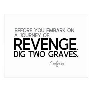 QUOTES: Confucius: Journey of revenge Postcard