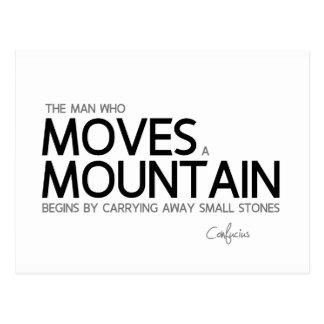 QUOTES: Confucius: Man moves a mountain Postcard