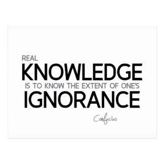 QUOTES: Confucius: Real knowledge Postcard