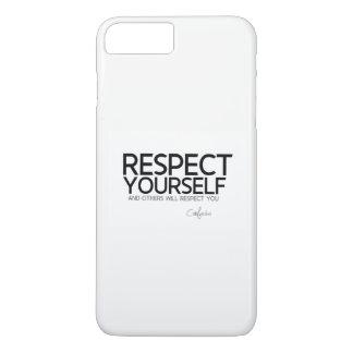 QUOTES: Confucius: Respect yourself Case-Mate iPhone Case
