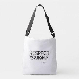 QUOTES: Confucius: Respect yourself Crossbody Bag